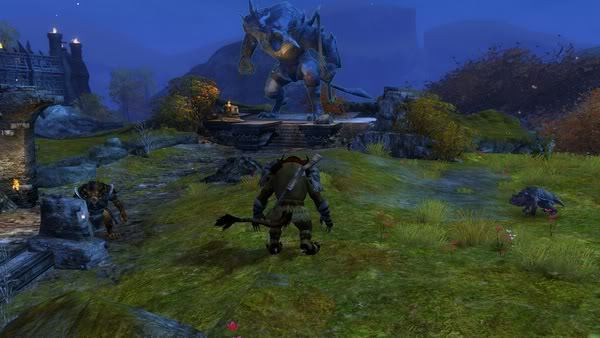 Even the charr statues go RAWR!
