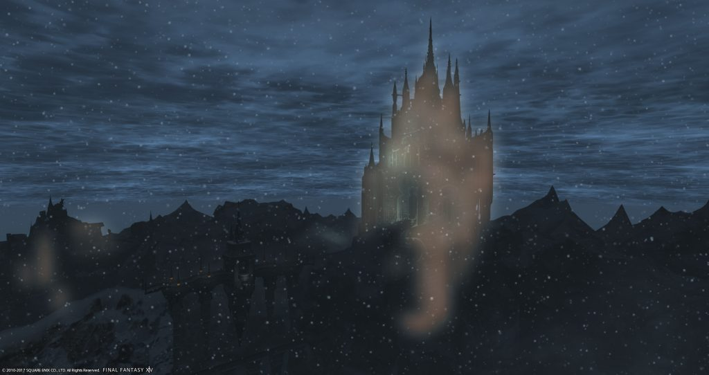 Ishgard seem from a distance
