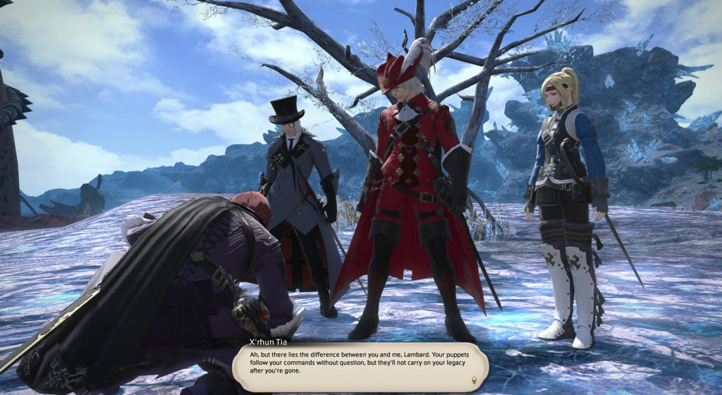 X'rhun tells Lambard that the difference between them is that X'rhun has followers will carry on his legacy after he is gone while Lambard has nothing but mindless puppets