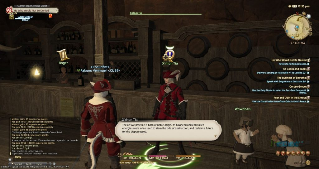 X'rhun Tia explains the noble origins of the Red Mages