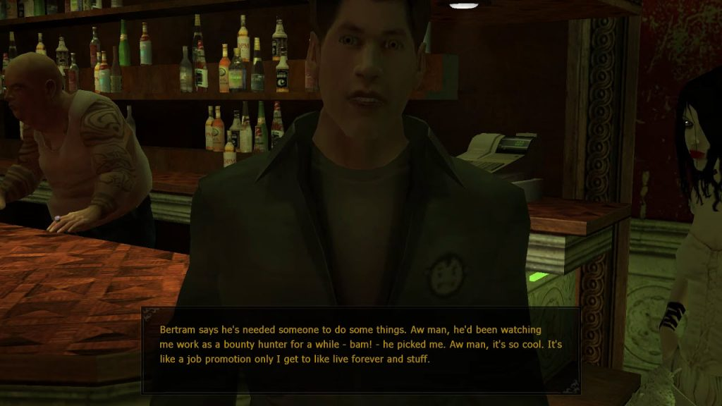 Knox explaining how it feels to be a ghoul working for Tung