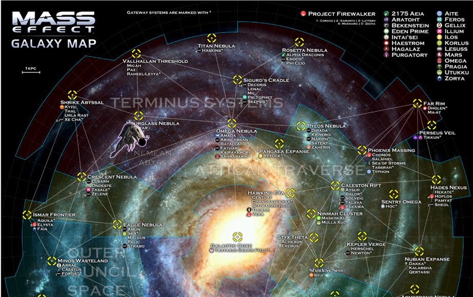 Image of the galaxy map