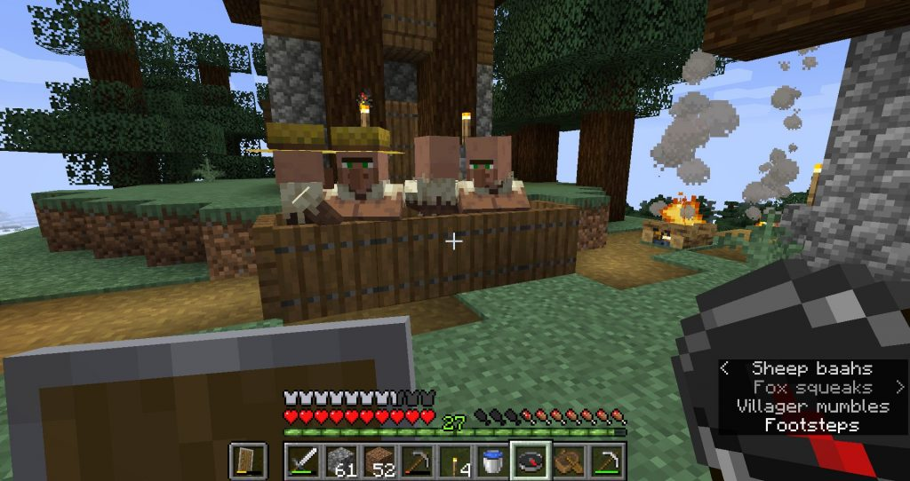 Villagers trapped by some trap doors.